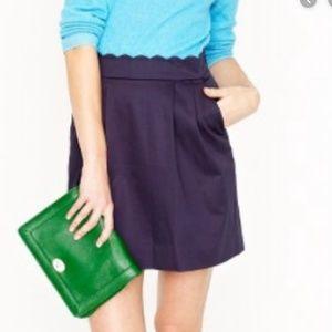 Scalloped Waisted Navy Skirt!
